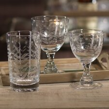 Spring Leaves Cut Design Wine Glassware (Set of 8)