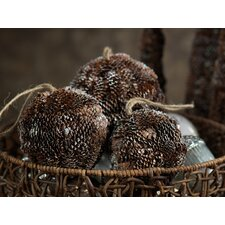 Autumn Frost Pine Cone Fill Ball (Set of 4)