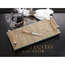 Barclay Butera Montecito Rectangular Cheese Tray with Knife