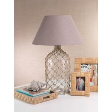 """Costa Brava Bottle Net 35"""" H Table Lamp with Oval Shade"""