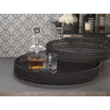 Straight Weave Round Serving Tray