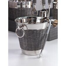 Woven Cane Wine Chiller with Ice Tong