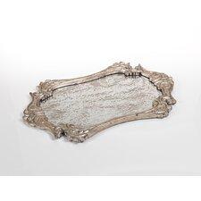 Ornately Framed Mirrored Tray