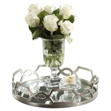Chain Link Design Round Serving Tray