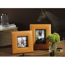Barclay Butera Equestrian Faux Leather Square Picture Frame