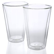 Canteen 13.5 oz Double Wall Insulated Glass (Set of 2)