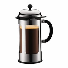 Chambord Double Wall Glass 8 Cup French Press Coffee Maker with Pour Control