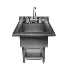 "UrbanEdge Pedestal Single Bowl 34"" x 33"" Utility Sink"