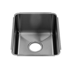 "Classic 13"" x 17.5"" Undermount Single Bowl Kitchen Sink"