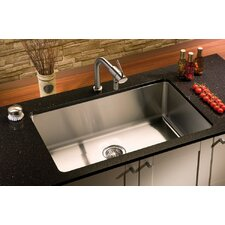 "Classic 31"" x 19.5"" Undermount Single Bowl Kitchen Sink"