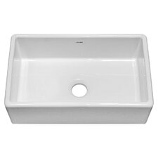 "F140 31.25"" x 18.13"" Farmhouse Single Bowl Kitchen Sink"