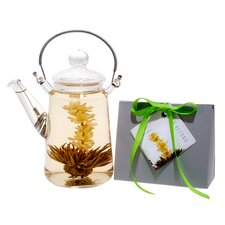 <strong>Tea Beyond</strong> Blooming Teapot Duo LV Tea Gift Set