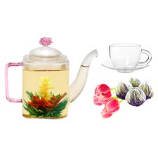 Romeo 0.53-qt. Jasmine Fab Flowering Tea Set
