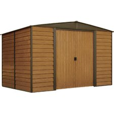 Euro Dallas 10' W x 6' D Steel Storage Shed