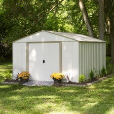 "10'3.25"" W x 13'6.75"" D Oakbrook Steel Storage Shed"