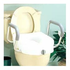 <strong>Carex</strong> E-Z Lock Raised Toilet Seat with Arms