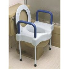 Extra Wide Tall-Ette Elevated Toilet Seat with Steel Legs