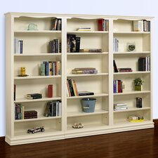 Cape Cod Tall 3-Piece Wall Bookcase in Pearl White