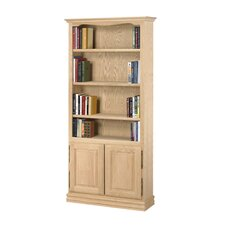 "Americana 84"" Oak Bookcase with Doors"