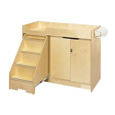 <strong>A&E Wood Designs</strong> Cubbie Changing Table with Stairs