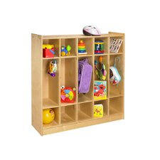 <strong>A&E Wood Designs</strong> Cubbie Five Bay Coat Locker in Natural