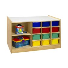 Mobile Storage 14 Compartment Cubby