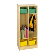 <strong>A&E Wood Designs</strong> Cubbie Two Bay Coat Locker in Natural