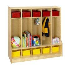 Cubbie 5-Section Step Bench Locker
