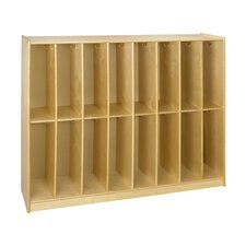 <strong>A&E Wood Designs</strong> Cubbie 16 Bay Twin Locker in Natural