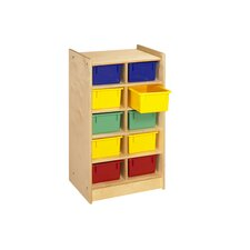 <strong>A&E Wood Designs</strong> Cubbie Mobile Ten Compartment Tray in Natural