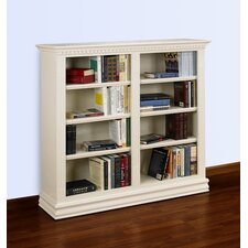 Hampton 48 x 48 Double Bookcase in Pearl White