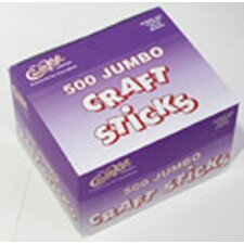 <strong>Chenille Kraft Company</strong> Jumbo Craft Sticks 500 Pieces Natrl