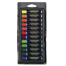 Oil Pastels 12 Pc Set Fluorescent