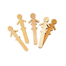 People Shaped Wood Craft 36 Pcs