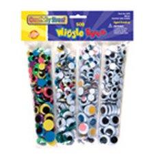 Wiggle Eyes 500 Asst.