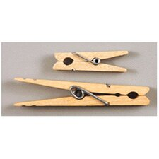 """Large Spring Clothespins Natural, 2 3/4"""", 24 per Pack"""