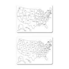 "USA Map 1' 11.6"" x 1' 6' Whiteboard"
