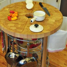 <strong>Chris & Chris</strong> Stadium Kitchen Cart with Wood Top