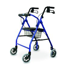 <strong>Invacare Supply Group</strong> Soft Seat Aluminum Rollator With Straight Backrest