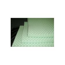 "4"" Convoluted Foam Bed Pad in Green"