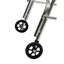 Pre-adolescent Rear Leg Silent Wheel Walker with Built-In Seat (Set of 2)
