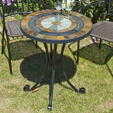 Villena Round Stainless Steel Bistro Table