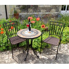 Villena 3 Piece Round Dining Set