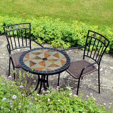 <strong>Europa Leisure</strong> Tobarra 3 Piece Round Dining Set