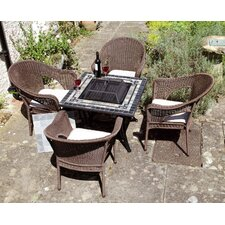 Miranda 5 Piece Square Dining Set