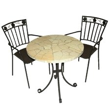 Lucerne 3 Piece Round Dining Set