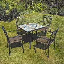 Amalfi 5 Piece Square Dining Set