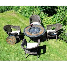 Durango 5 Piece Round Low Dining Set
