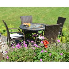 Alcira 5 Piece Round Dining Set