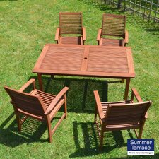 Tornio 5 Piece Rectangular Dining Set